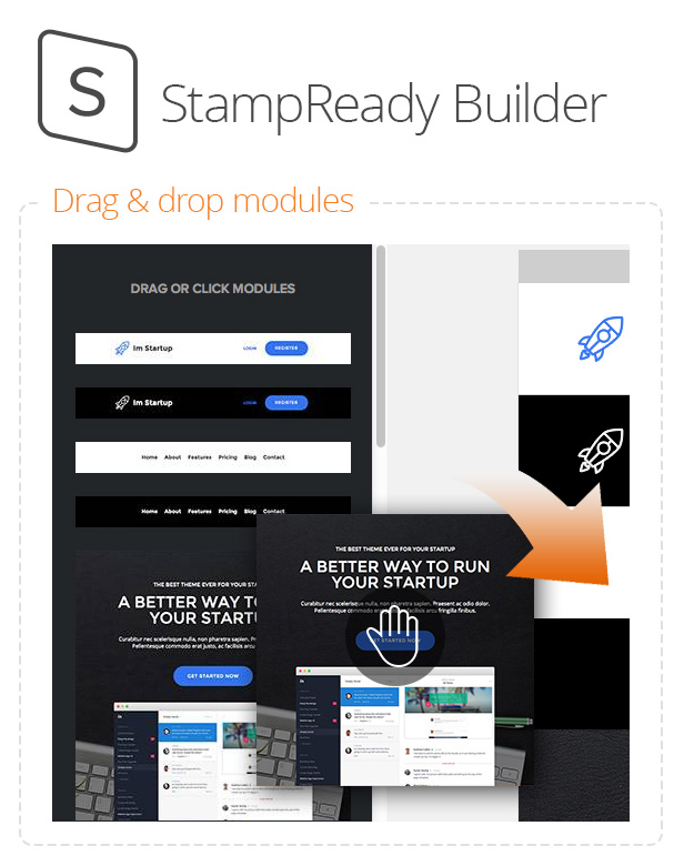 Im Startup - Responsive Email + StampReady Builder